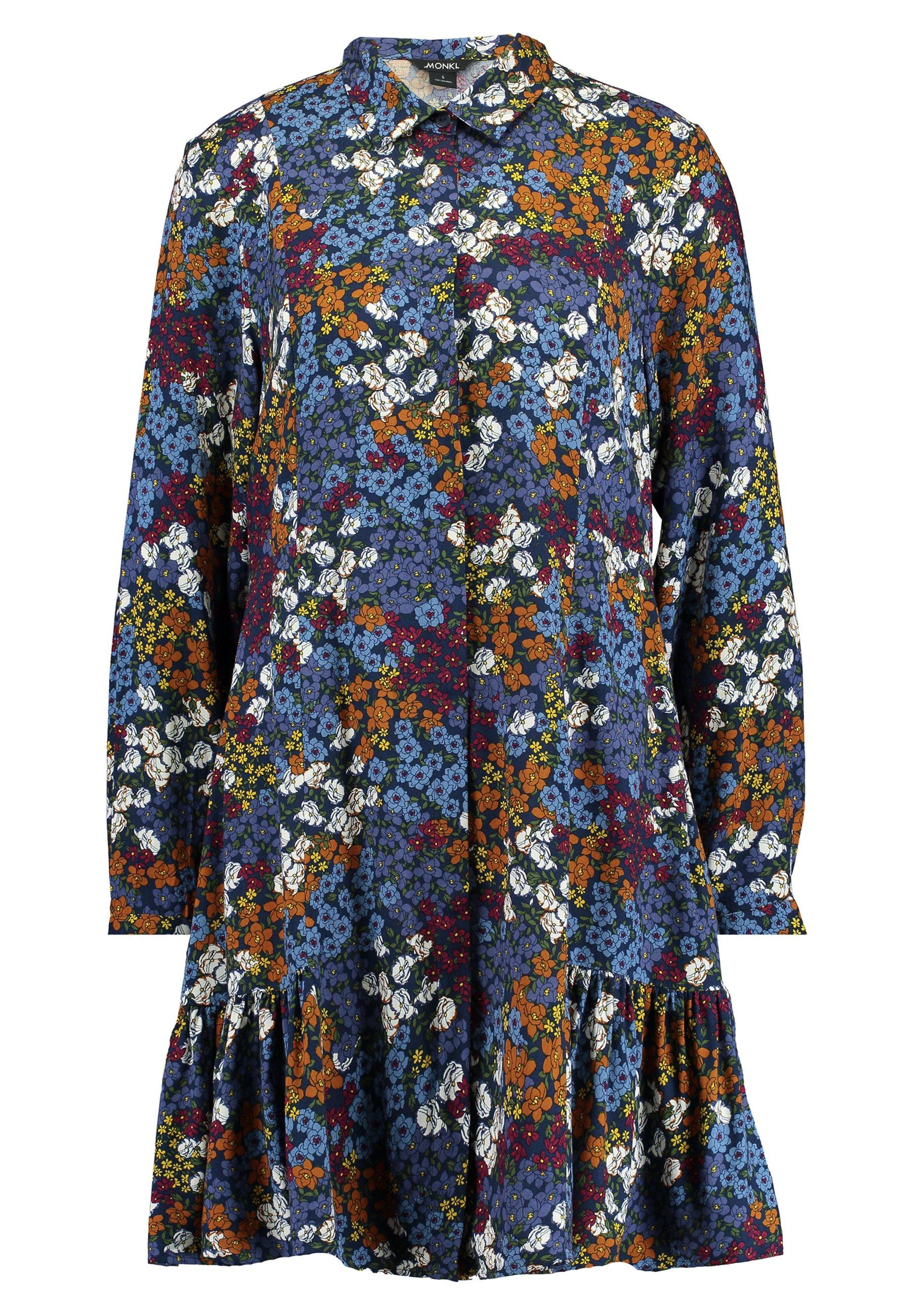 Monki MIRANDA DRESS ASIA - Sukienka koszulowa - yellow