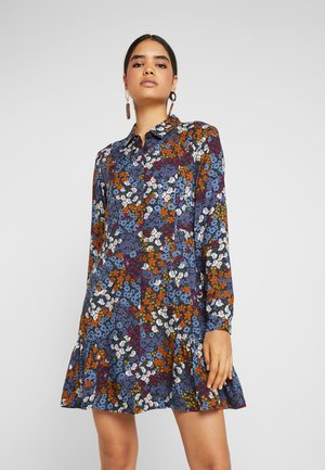 MIRANDA DRESS - Vestido camisero - dark blue/multi coloured