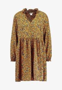 Monki - SAGA DRESS - Denní šaty - mustard/green - 4