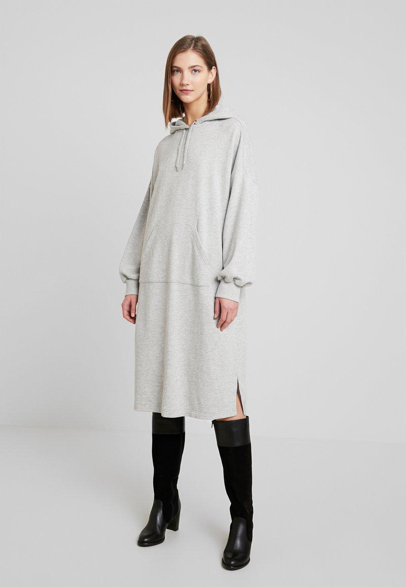 Monki - ZANDRA DRESS - Day dress - grey melange