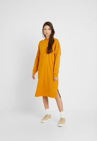 Monki - MINDY DRESS - Jersey dress - yellow dark - 1