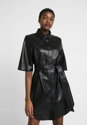KARLA DRESS - Skjortekjole - black