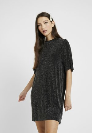 IZZY DRESS - Jerseykleid - black dark silver