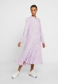 Monki - FIONA DRESS - Vestido informal - lilac/white - 0