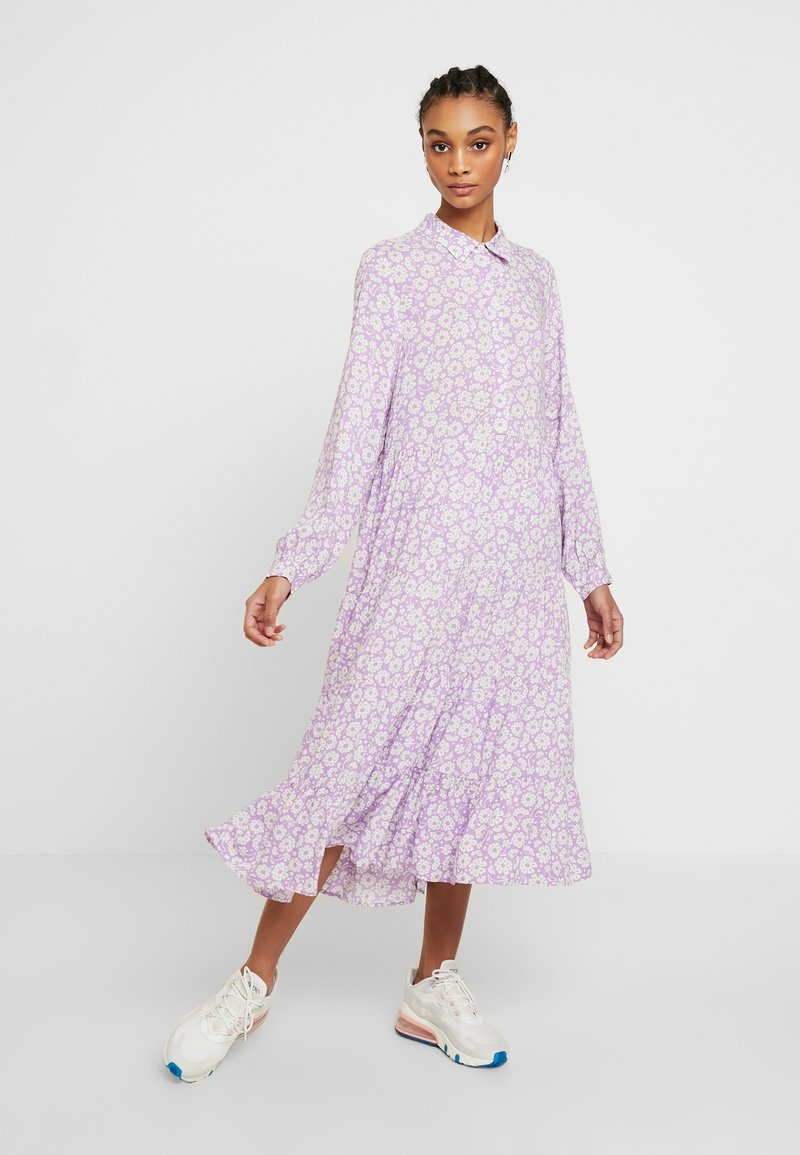 Monki - FIONA DRESS - Vestido informal - lilac/white
