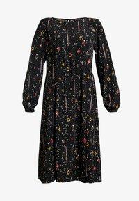 Monki - TERES DRESS - Korte jurk - black dark - 4