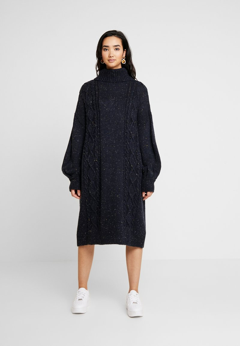 Monki - VALDA DRESS - Robe pull - blue dark
