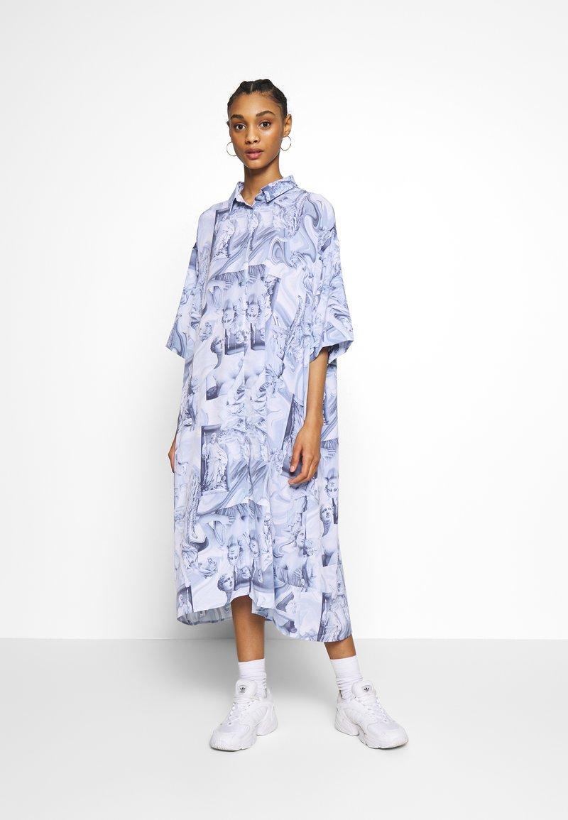 Monki - BEA DRESS - Košilové šaty - blue dark