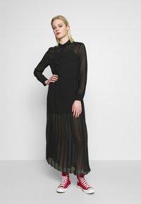 Monki - BRIELLE DRESS - Maxi-jurk - black dark - 0