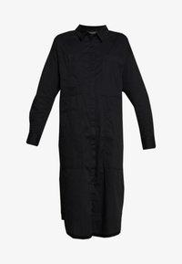 Monki - JAY POCKET DRESS - Skjortekjole - black - 4