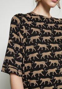 Monki - RIKA DRESS - Jersey dress - brown - 4