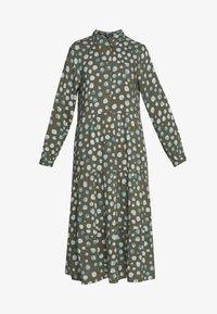 Monki - PEARL DRESS - Skjortekjole - khaki/blue - 4