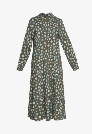 PEARL DRESS - Skjortekjole - khaki/blue
