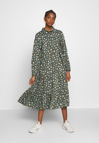 Monki - PEARL DRESS - Skjortekjole - khaki/blue - 0