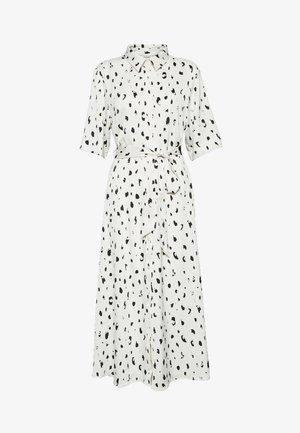 ADRIANA DRESS - Skjortekjole - white/black