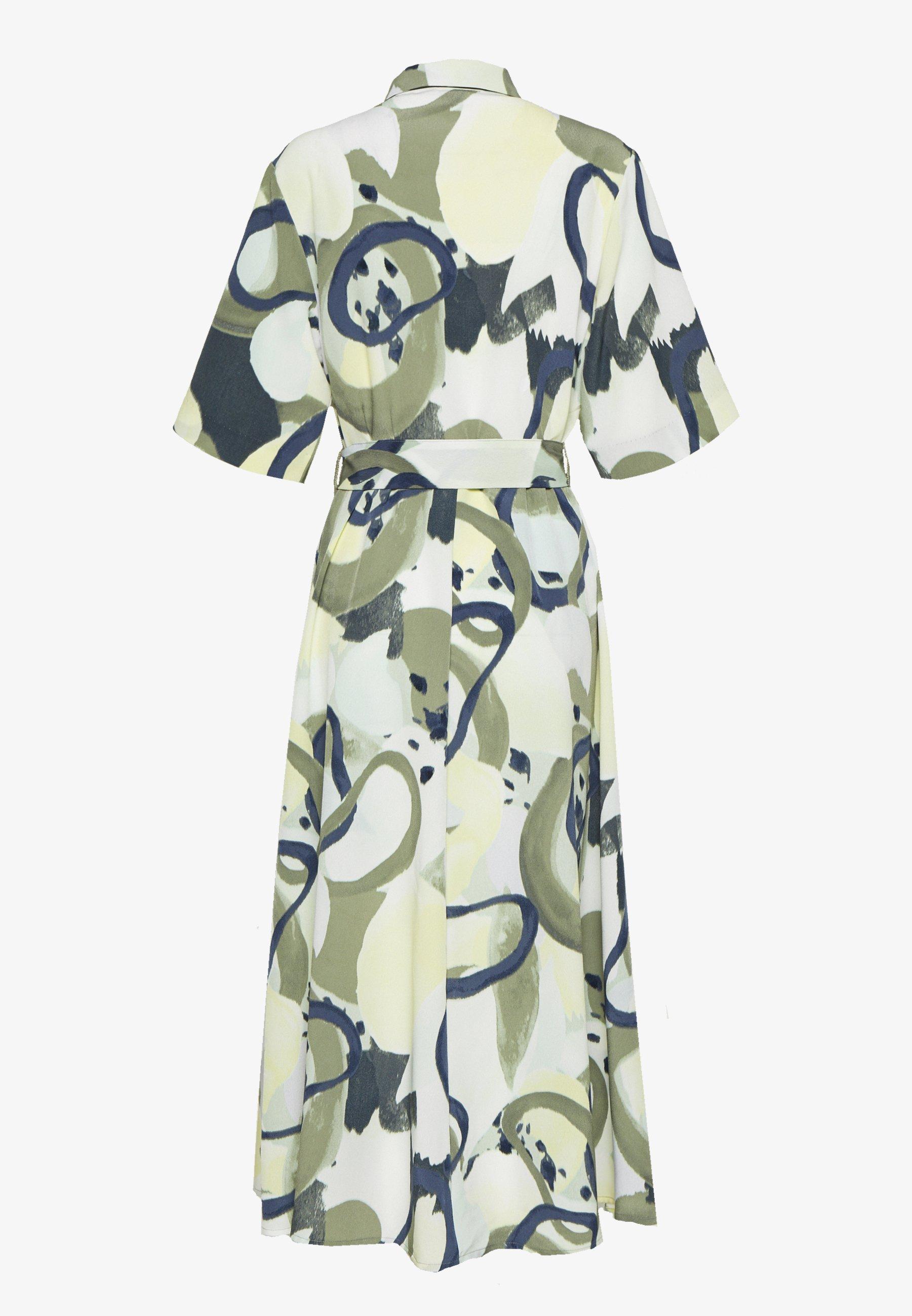 Monki Adriana Dress - Skjortklänning Khaki