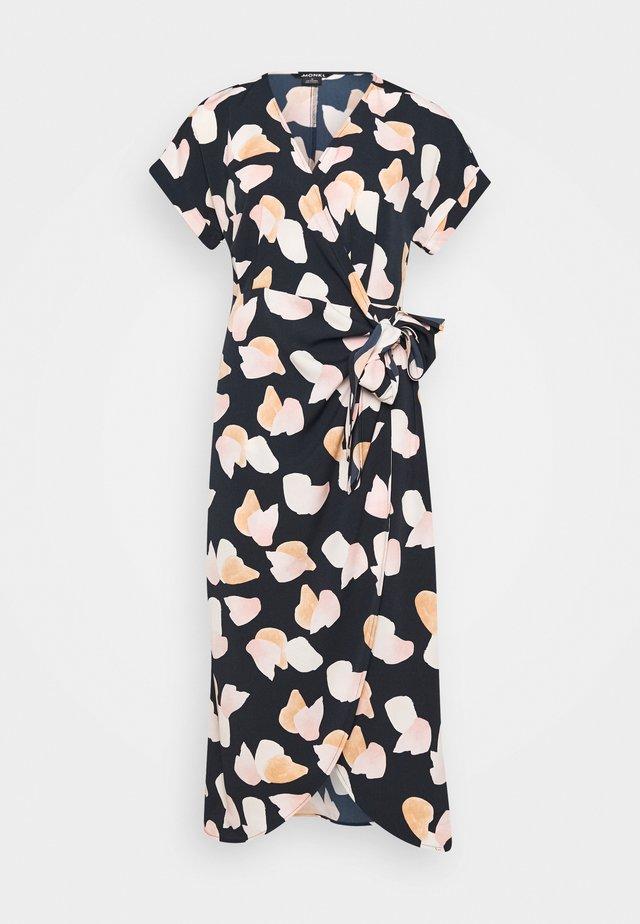 ENLIE WRAP DRESS - Korte jurk - bordeaux