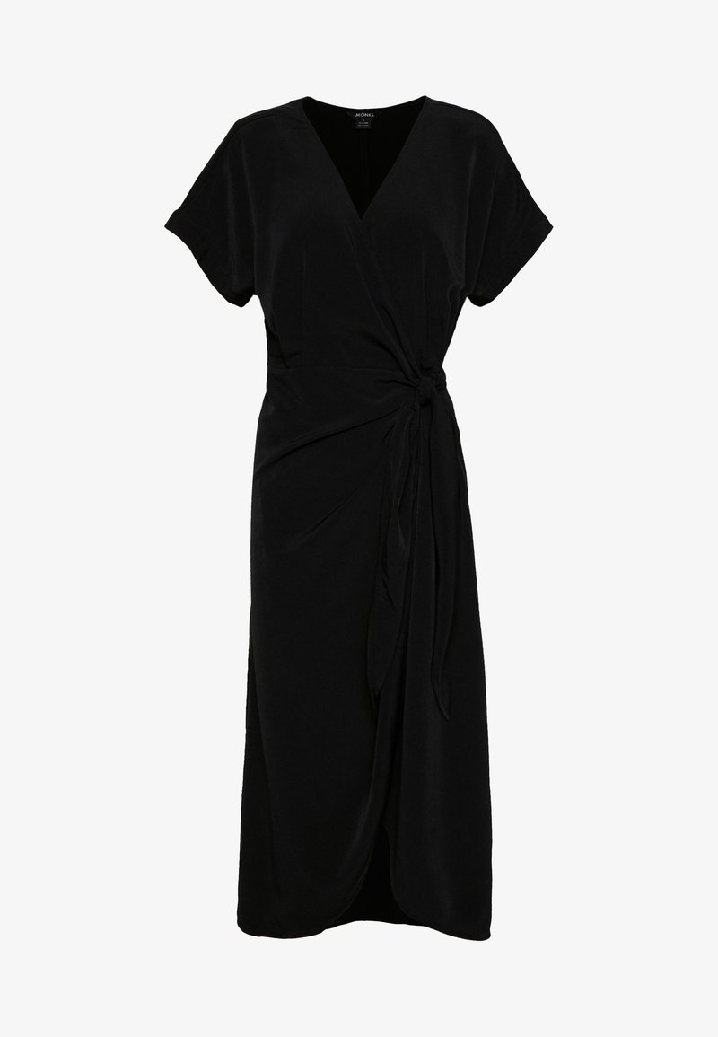 Monki - ENLIE WRAP DRESS - Kjole - black
