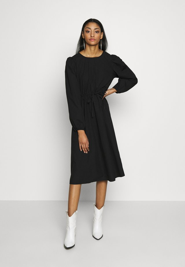 MALLAN DRESS - Day dress - black solid