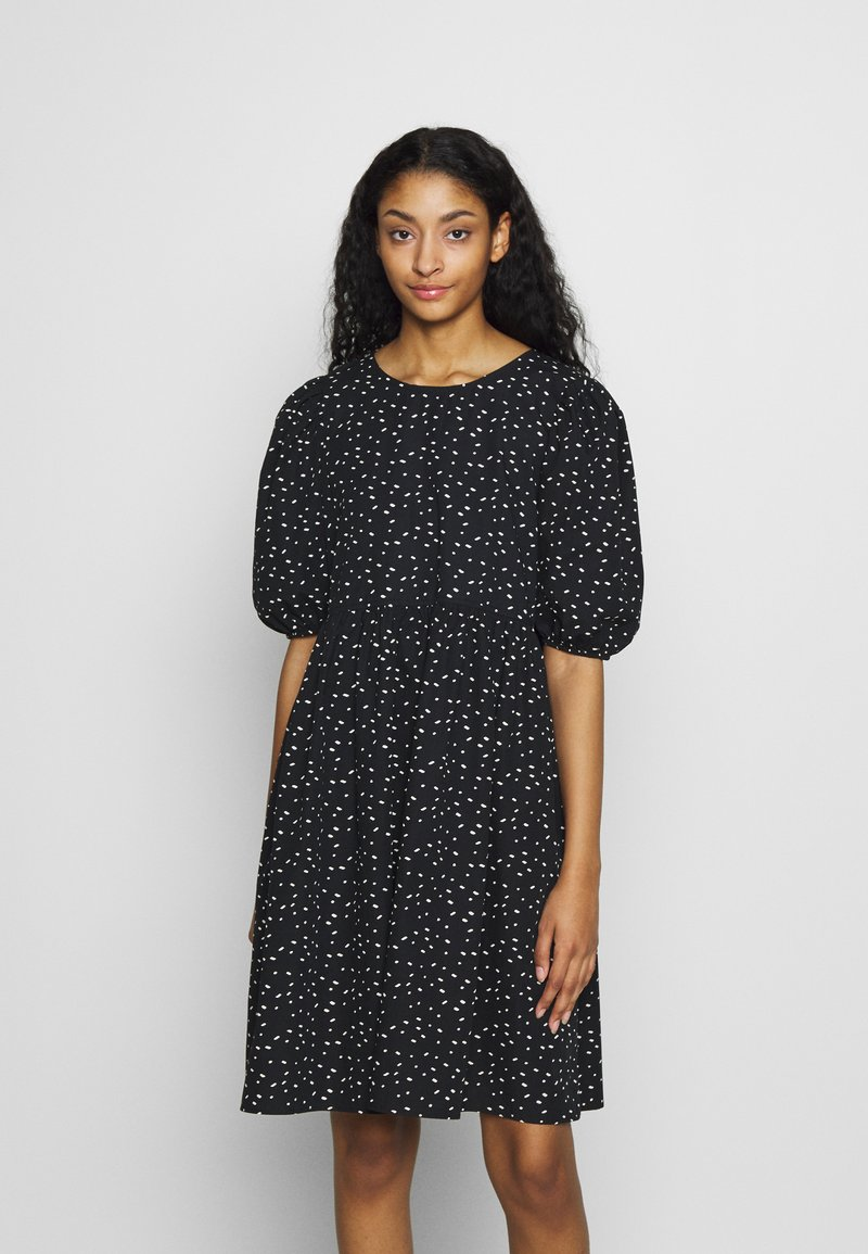 Monki - MELODY DRESS - Kjole - black dark/unique