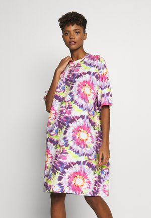 SANDRA DRESS - Jerseykjoler - white tie dye