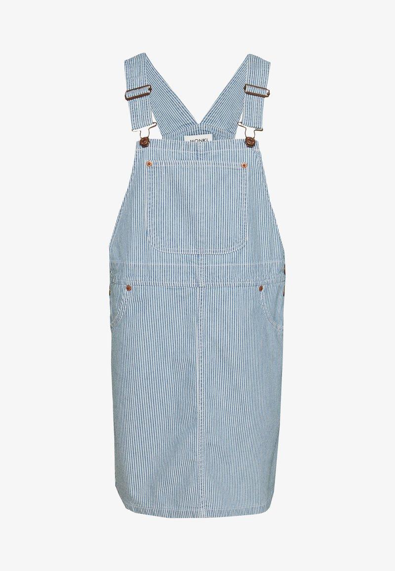 Monki - DARIA DRESS - Dongerikjole - blue medium