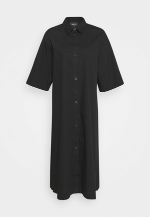 ELIN DRESS - Shirt dress - black dark
