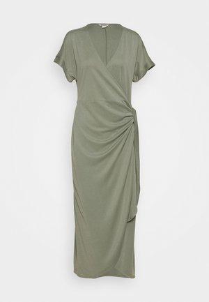 ENLIE WRAP DRESS - Jerseykjoler - khaki green medium dusty
