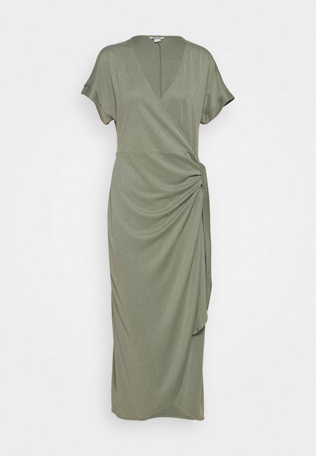 ENLIE WRAP DRESS - Vestido ligero - khaki green medium dusty