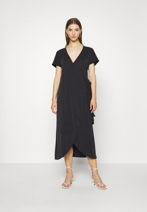 ENLIE WRAP DRESS - Vestito di maglina - black dark
