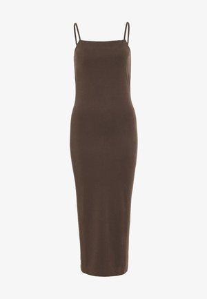 BONITA STRAP DRESS - Day dress - dark brown