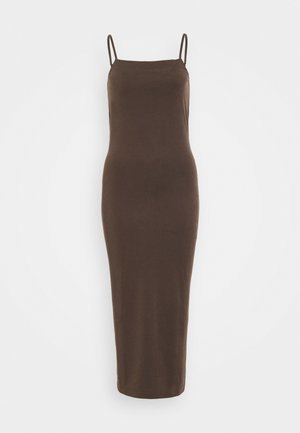 BONITA STRAP DRESS - Korte jurk - dark brown