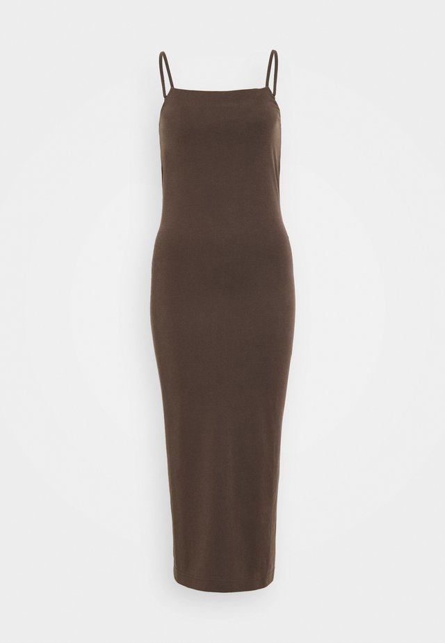 BONITA STRAP DRESS - Korte jurk - dark brown