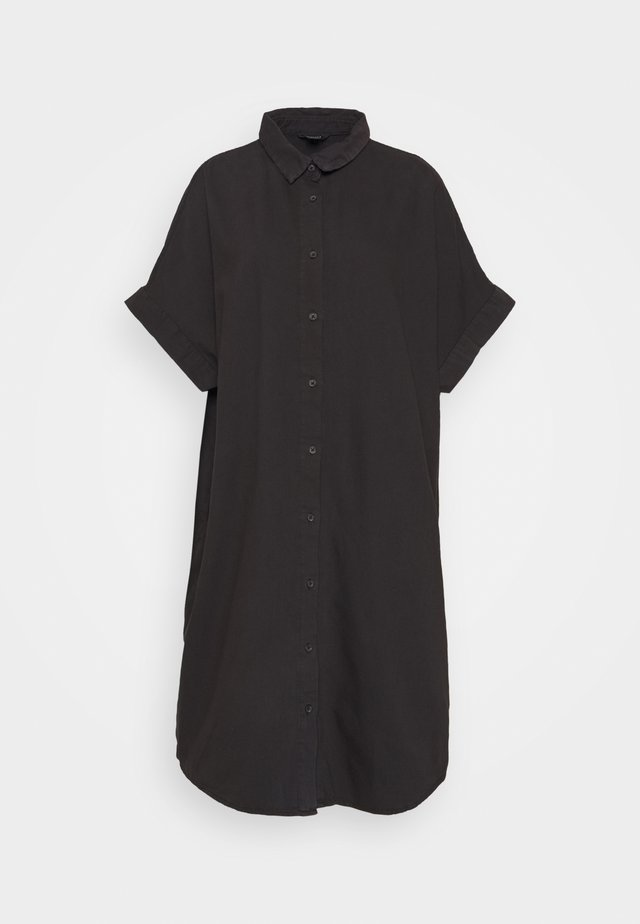 MOLLY DRESS - Shirt dress - black