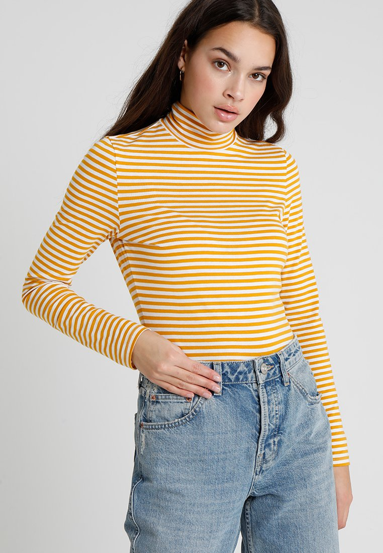 Monki - VANJA  - Langærmede T-shirts - yellow/white