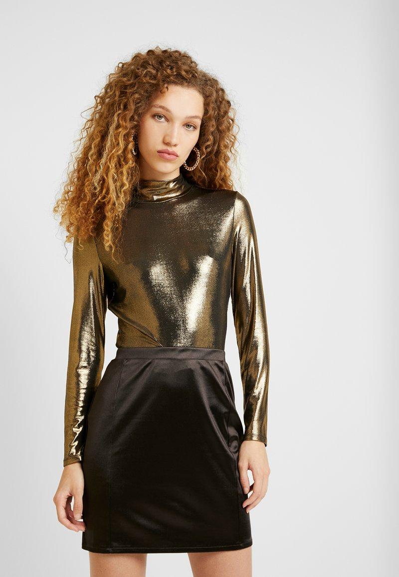 Monki - VANJA  - Long sleeved top - foile gold