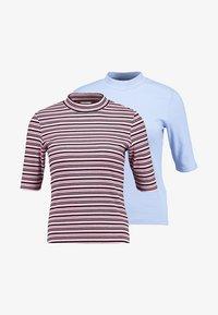 Monki - SABRINA 2 PACK - T-shirt print - pink/black - 5