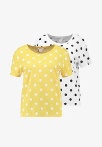 Monki - SIMBA TEE 2 PACK - T-shirt print - senorita yellow - 5