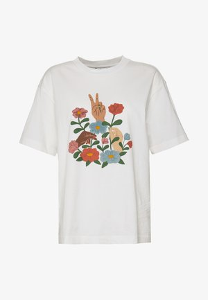 TOVI TEE - T-shirts med print - white light