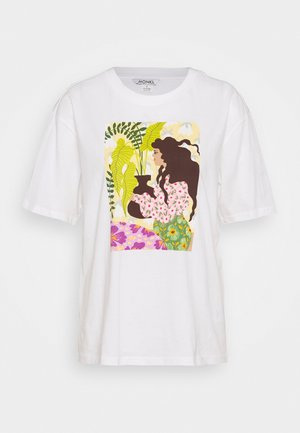 TOVI TEE - T-shirt imprimé - offwhite