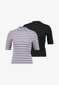 Monki - SABRINA 2 PACK - T-shirt print - black/multi - 3