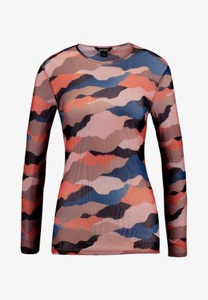 JOSSAN - Long sleeved top - beige/orange/blue