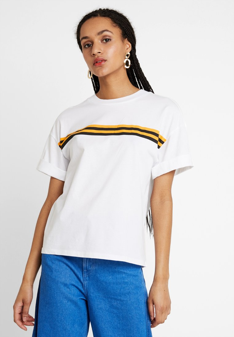 Monki - BARKA UNIQUE 2 PACK - T-Shirt print - yellow/white