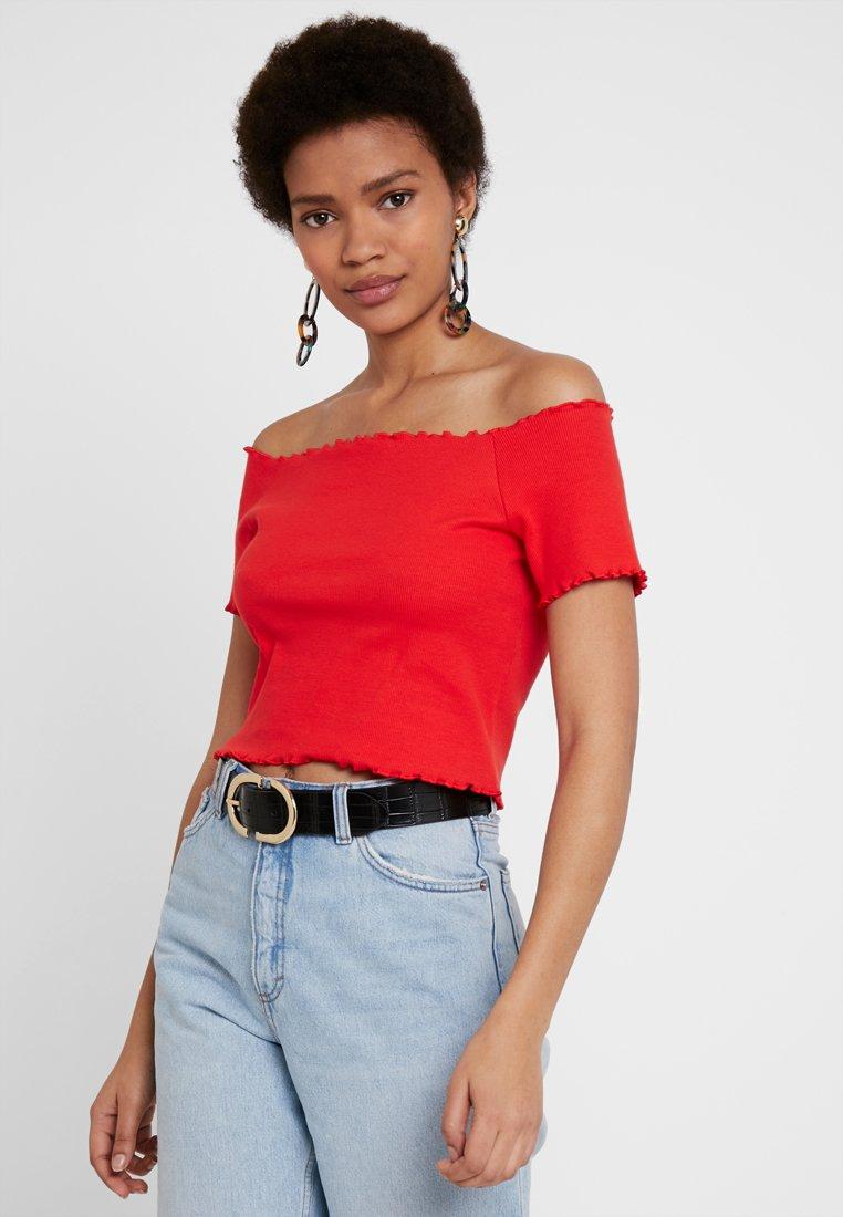Monki - SIGBRITT UNIQUE 2 PACK  - T-Shirt print - red/white