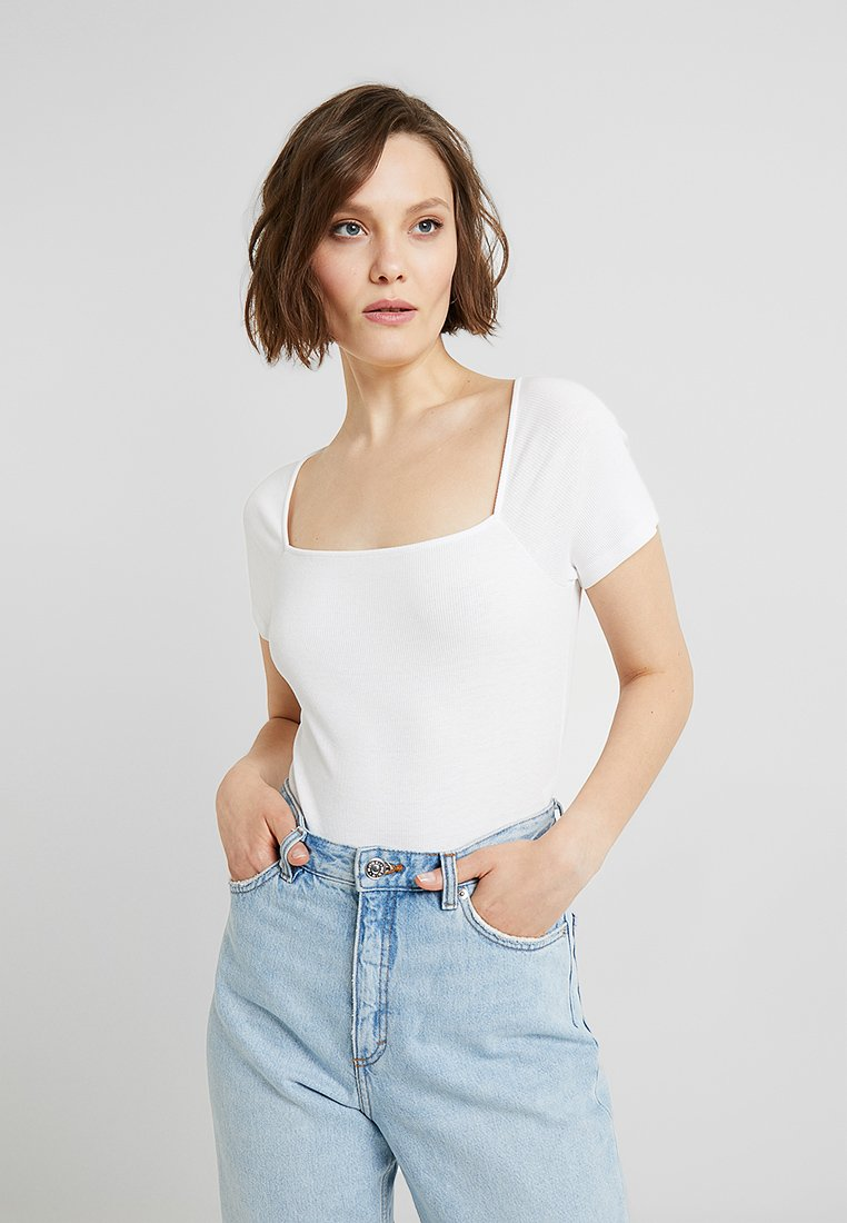 Monki - MIMMI BODY UNIQUE - T-Shirt print - white