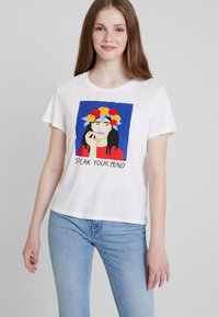 Monki - SIMBA TEE 2 PACK - T-shirt print - white/blue - 0