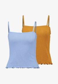 Monki - LINDY SINGLET UNIQUE 2 PACK - Top - blue/beige - 4