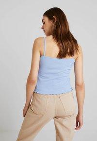 Monki - LINDY SINGLET UNIQUE 2 PACK - Top - blue/beige - 2
