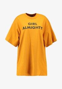 Monki - TORI TEE - Print T-shirt - dark yellow - 4