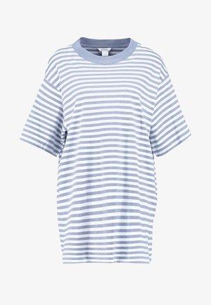 TORI TEE - T-shirt med print - blue/white